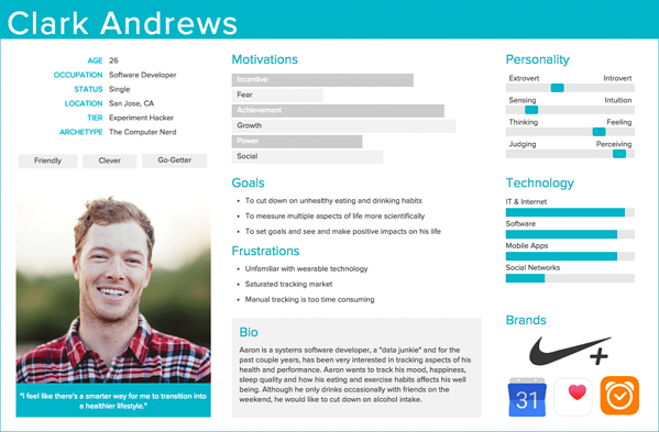 Example of a User Persona from Adobe