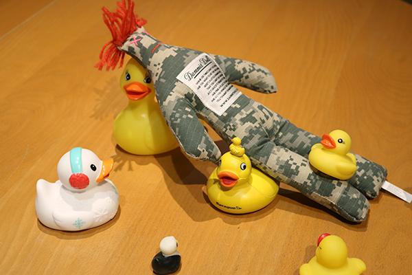Ducks with Dammit Doll