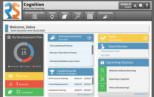 Cognition Student Dashboard