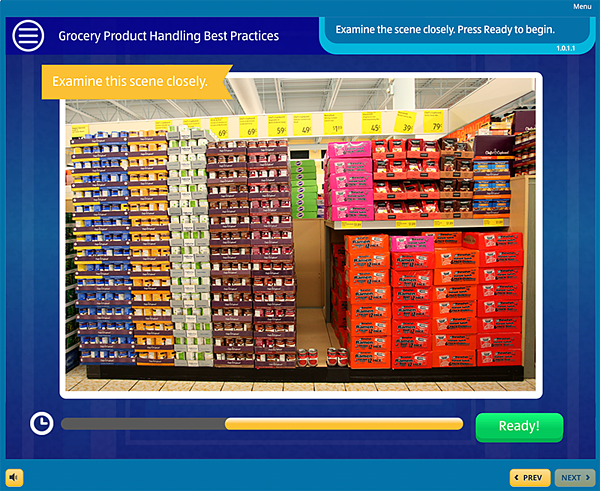 Example Grocery Aisle for product training
