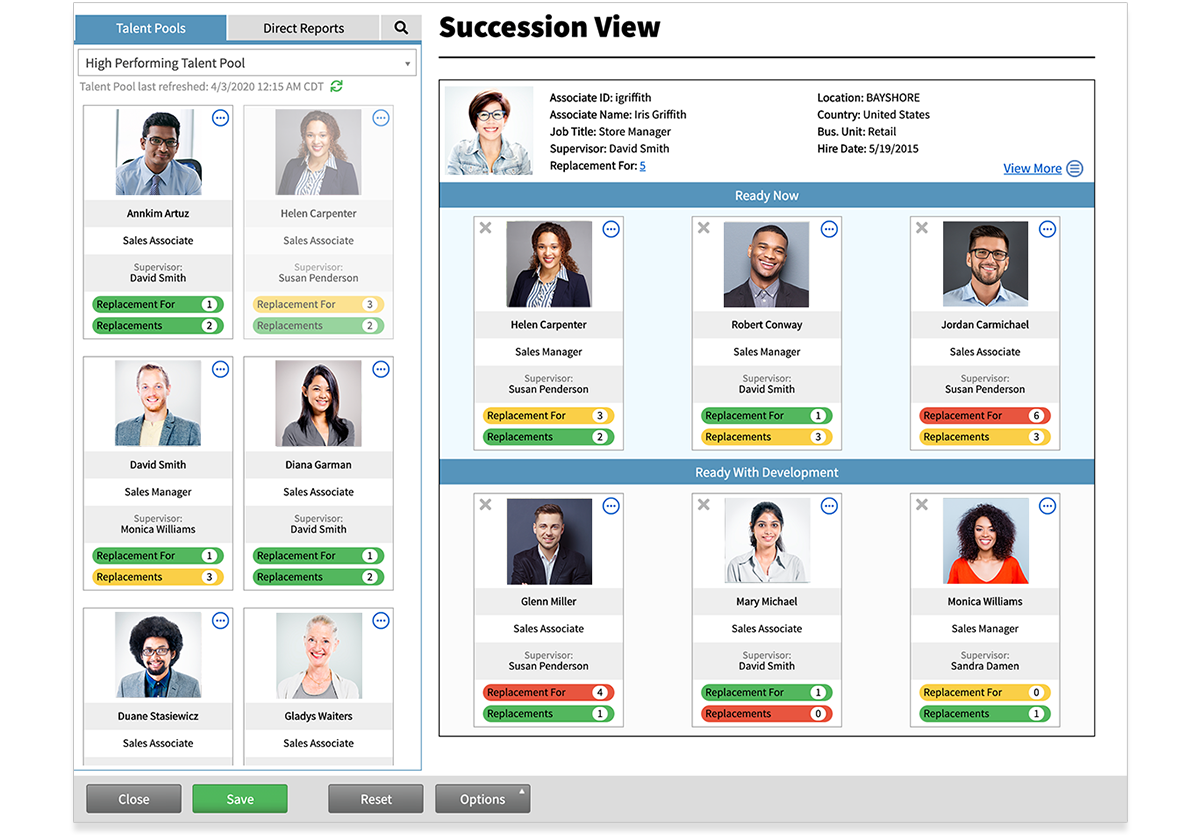 Cognition Succession Plan view.